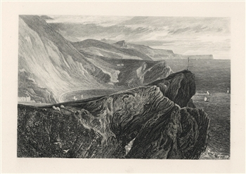 J. M. W. Turner Lulworth Cove engraving