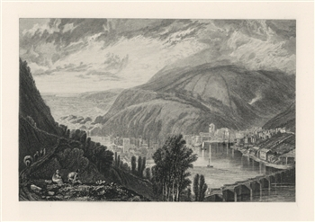 J. M. W. Turner East and West Look engraving