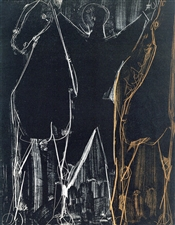"Marino Marini ""Acrobat with Two Horses"" original lithograph, 1951"