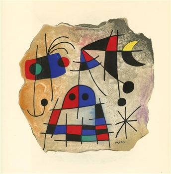 Joan Miro pochoir, 1953, Pierre Matisse Gallery
