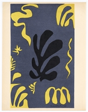 Henri Matisse lithograph Decoupage for XXe Siecle