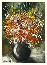 "Maurice de Vlaminck lithograph ""China Asters"""