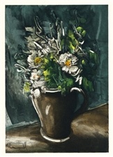 "Maurice de Vlaminck lithograph ""Flowers in a Stoneware Jug"""