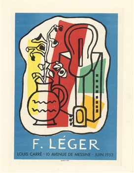 Fernand Leger lithograph poster printed by Mourlot