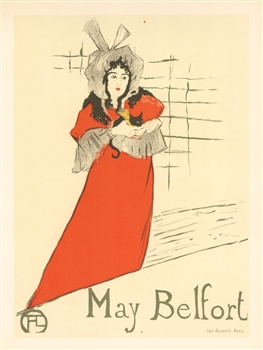Toulouse-Lautrec lithograph poster May Belfort