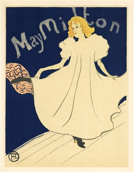 Toulouse-Lautrec lithograph poster May Milton