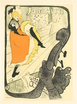 Toulouse-Lautrec lithograph poster Jane Avril