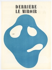 Jean Arp original woodcut for Derriere le Miroir