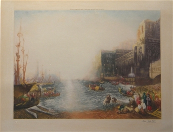 "J. M. W. Turner | John Cother Webb mezzotint ""Regulus leaving Carthage"""