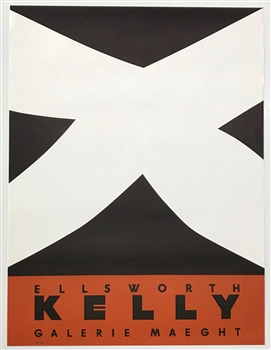 Ellsworth Kelly lithograph poster for the Galerie Maeght