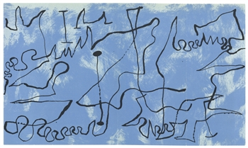 Joan Miro original lithograph (Composition 3) 1956