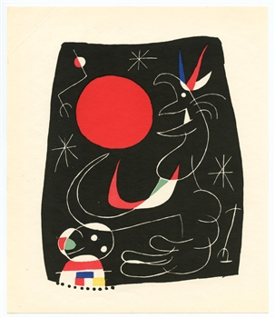 "Joan Miro original lithograph ""Composition 4"""