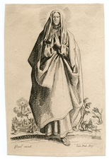 "Jacques Callot ""The Virgin Mary"" etching"