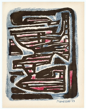 Alfred Manessier original lithograph, 1954 | lithographie
