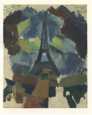 Robert Delaunay color pochoir