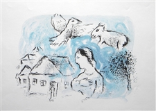 "Marc Chagall ""The Village"" original lithograph"