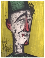 "Bernard Buffet original lithograph ""Jojo the Clown"""