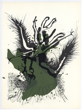 Paul Rebeyrolle original lithograph, 1969