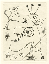 "Joan Miro ""Man with the Plumed Hat"" original etching"