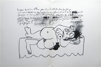 "Pablo Picasso original lithograph ""Homage to Braque"""