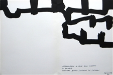 Eduardo Chillida lithograph | Homage to Braque