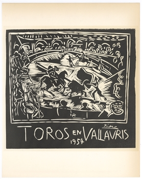 Pablo Picasso lithograph poster Mourlot Exposition Vallauris