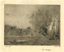 "Jean-Baptiste Corot / Walter Sickert etching ""The Boatman"""
