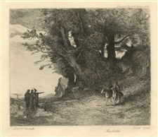 "Jean-Baptiste Corot etching ""Macbeth"""