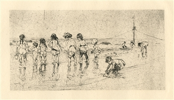 "Maurice Sterne ""Coney Island"" original etching"