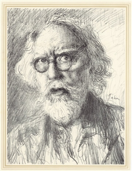 Augustus John original lithograph Self Portrait