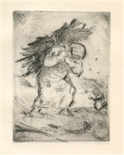 "Otto Schubert original etching ""Winter"""