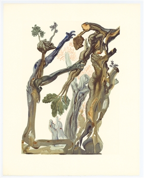 Salvador Dali Divine Comedy The Wood and the Suicide