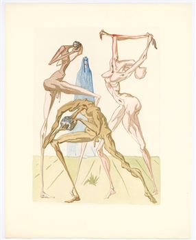Salvador Dali Divine Comedy The Sodomites