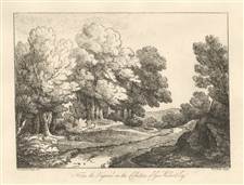 Thomas Gainsborough soft-ground etching, 1819