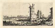 "Jacques Callot ""View of the Pont-Neuf"" etching"