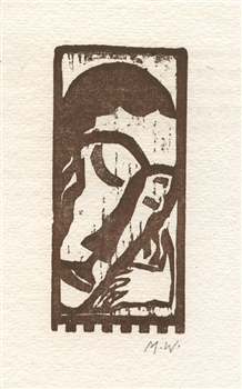 Max Weber original woodcut for Primitives
