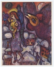 "Marc Chagall ""The Flight"" 1968"