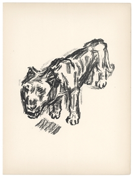 "Rene Beeh original lithograph ""The Lion"""