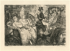 "John Sloan original etching ""Une rue a New York"" - Fifth Avenue"