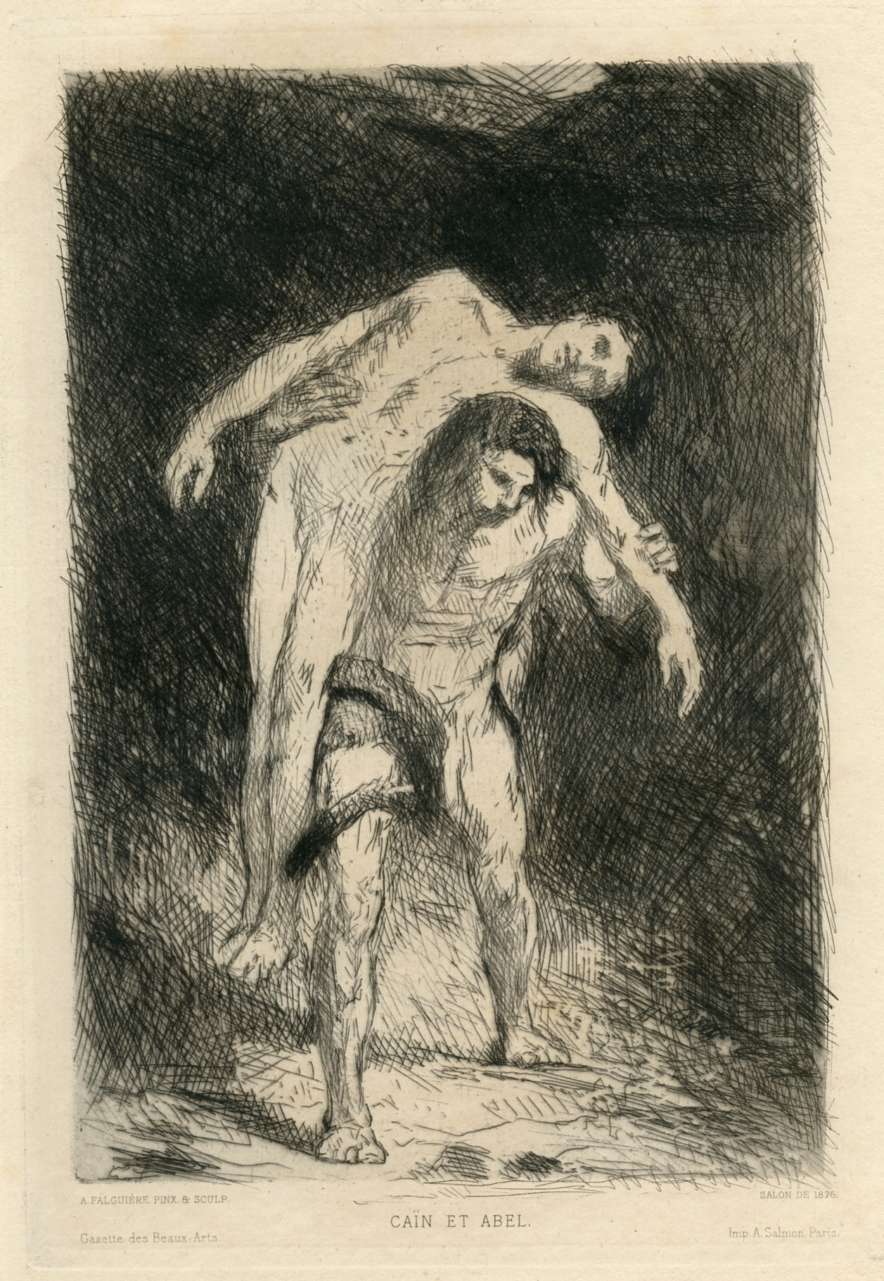 alexandre falguiere original etching