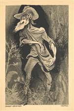 "William Gropper original lithograph ""Johnny Appleseed"""