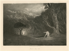 John Martin original mezzotint for Paradise Lost