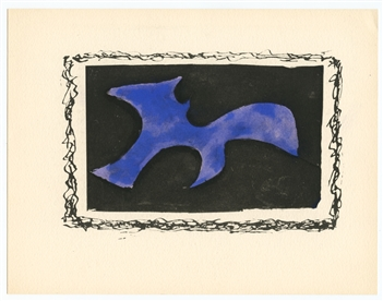 Georges Braque 1959 pochoir Solitaire