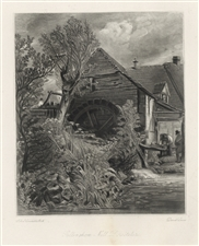 "Sir John Constable / David Lucas mezzotint ""Gillingham Mill"""