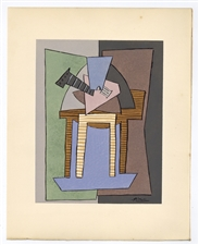 Pablo Picasso Cubist pochoir for Cahiers d'Art, 1926