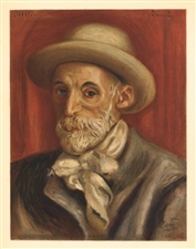"Pierre-Auguste Renoir lithograph ""Self Portrait"""
