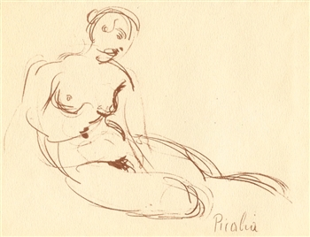 Francis Picabia (Femme femme allongee) 1920