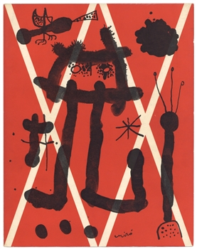 Joan Miro lithograph for XXe Siecle