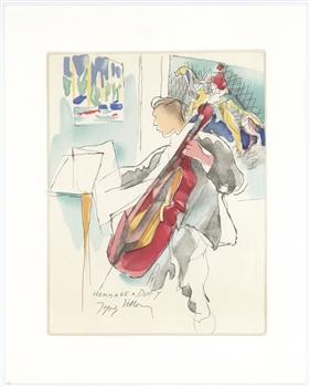 "Jacques Villon lithograph ""Homage to Dufy"""