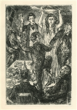 John Sloan original etching Of Human Bondage